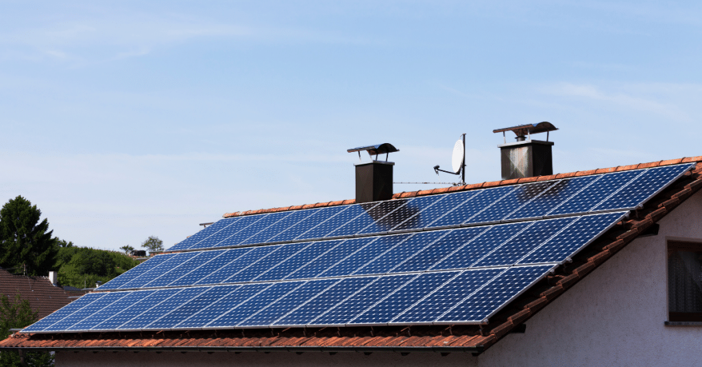 solar panels on a roof 1