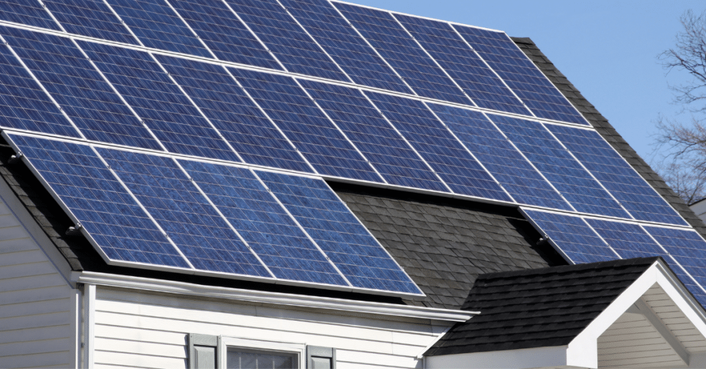 solar panels on a roof 2