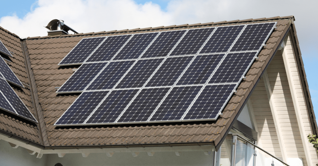 solar panels on a roof 4