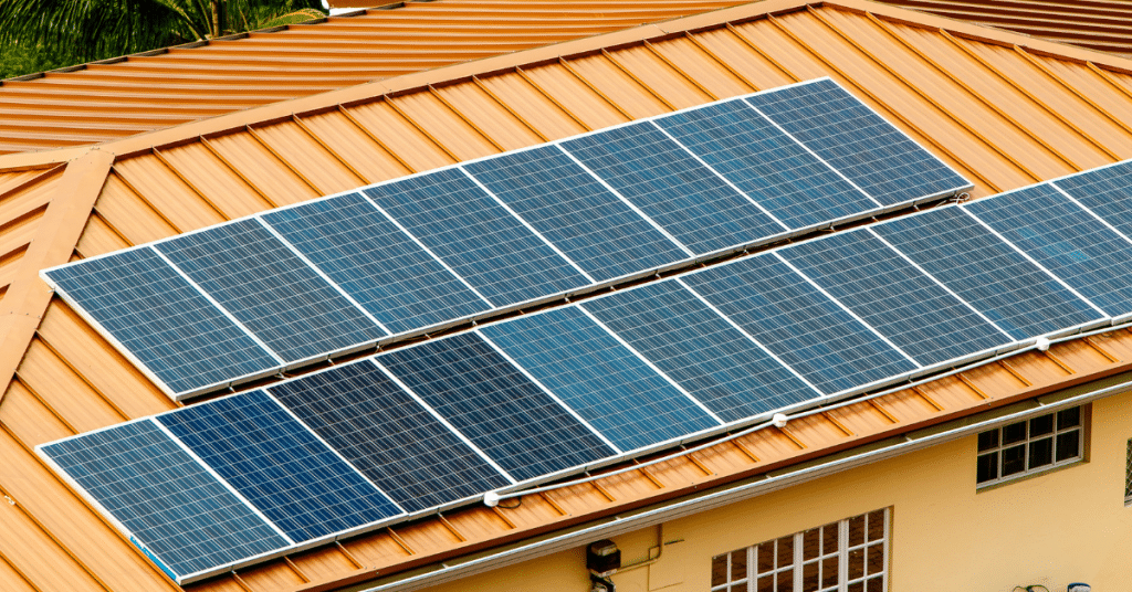 solar panels on a roof 5